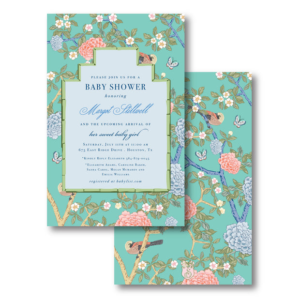 Chinoiserie Blooms Invitation