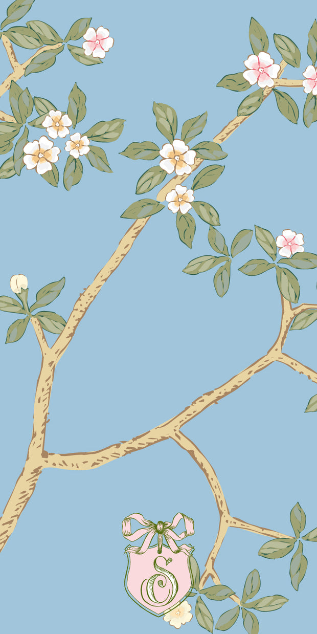 Chinoiserie Branch - Blue Gift Tag