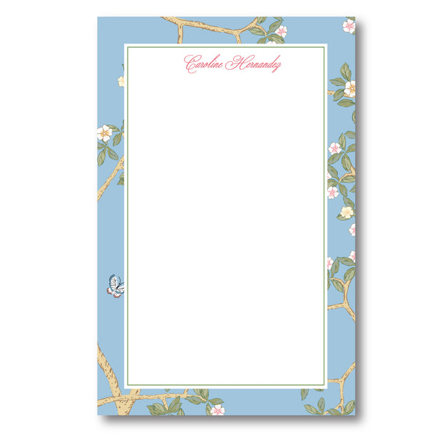 Chinoiserie Branch - Blue Notepad