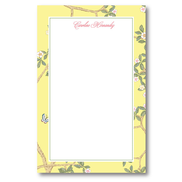 Chinoiserie Branch - Yellow Notepad