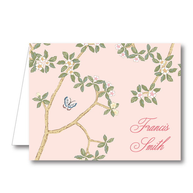 Chinoiserie Branch Folded Notecard