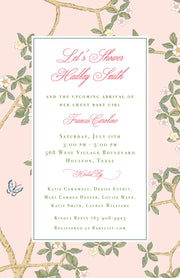 Chinoiserie Branch Invitation
