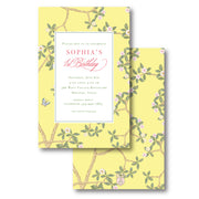 Chinoiserie Branch - Yellow Invitation