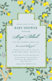 Chinoiserie Lemon Invitation