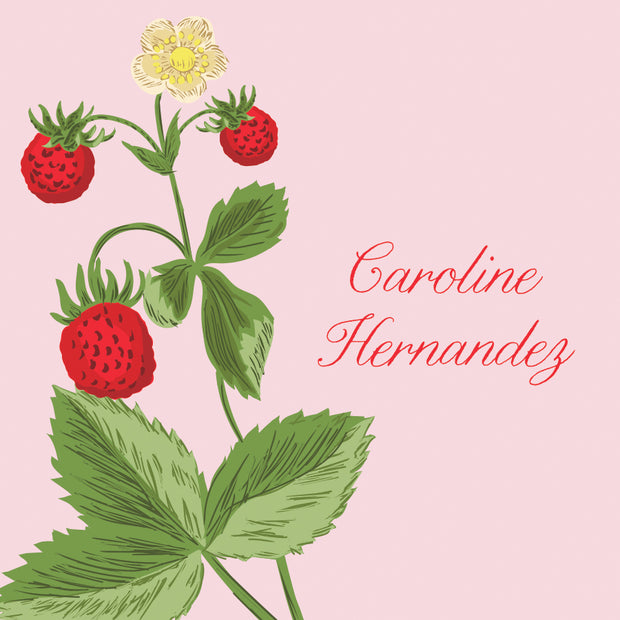 Chinoiserie Strawberry Calling Card