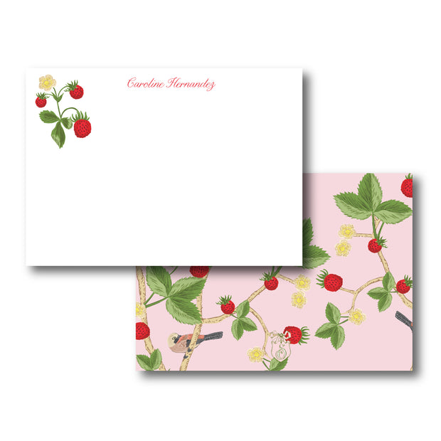 Chinoiserie Strawberry Stationery