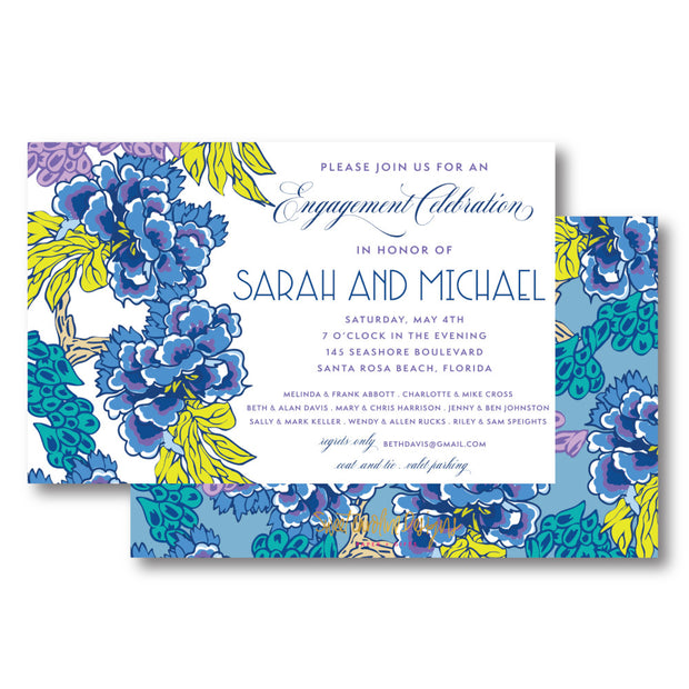 Blue Chinoiserie Invitation