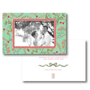 Christmas Chinoiserie Branch Border - Landscape Christmas Card