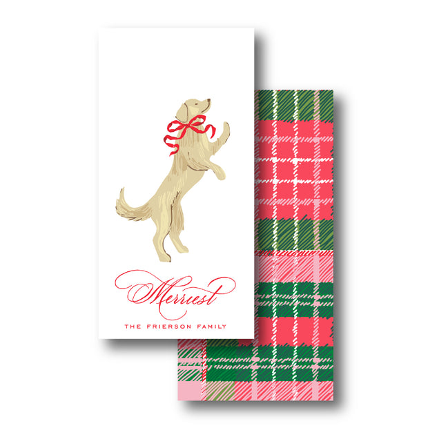 Christmas Puppy Crest - Yellow Lab Gift Tag