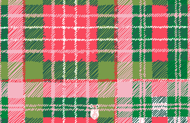 Christmas Puppy Crest - Landscape Christmas Card