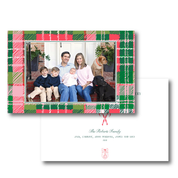 Christmas Puppy Crest Frame - Landscape Christmas Card