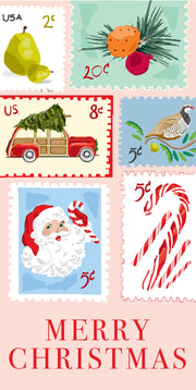 Christmas Stamps - Vertical Gift Tag