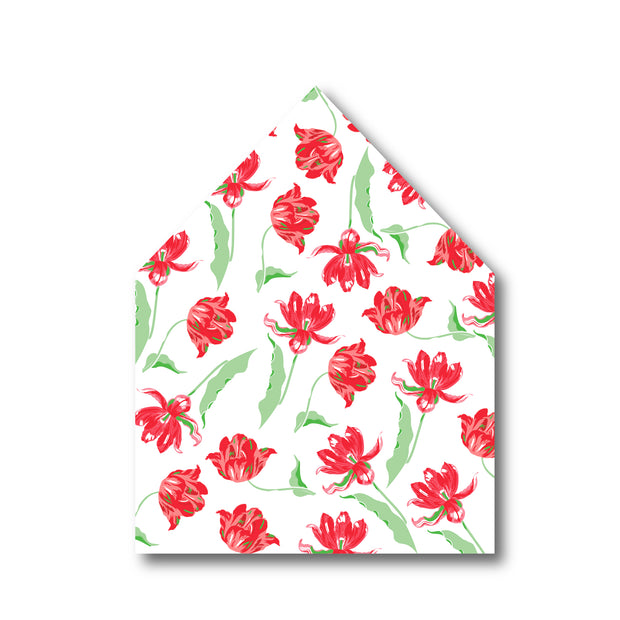 Christmas Tulips Envelope Liner