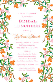 Citrus Garden Invitation