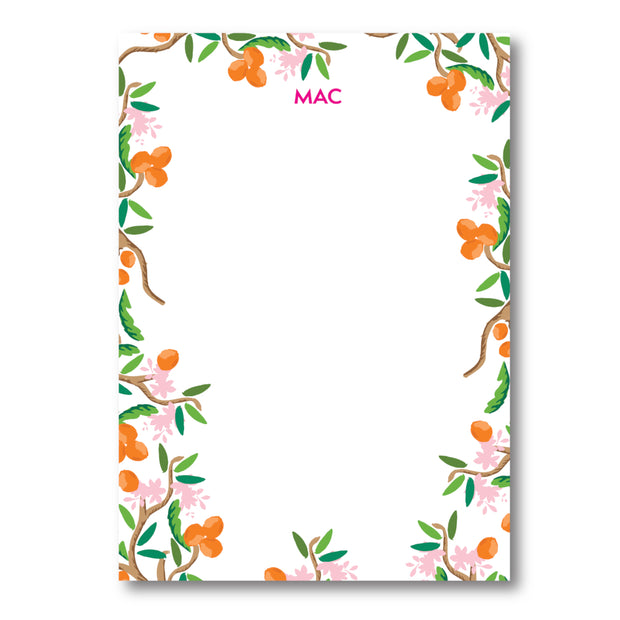 Citrus Garden Border Notepad