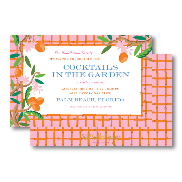 Citrus Garden Border Invitation