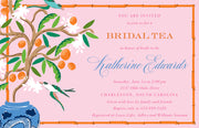 Citrus Garden Tree Invitation