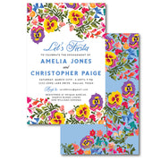 Colorful Flowers Invitation