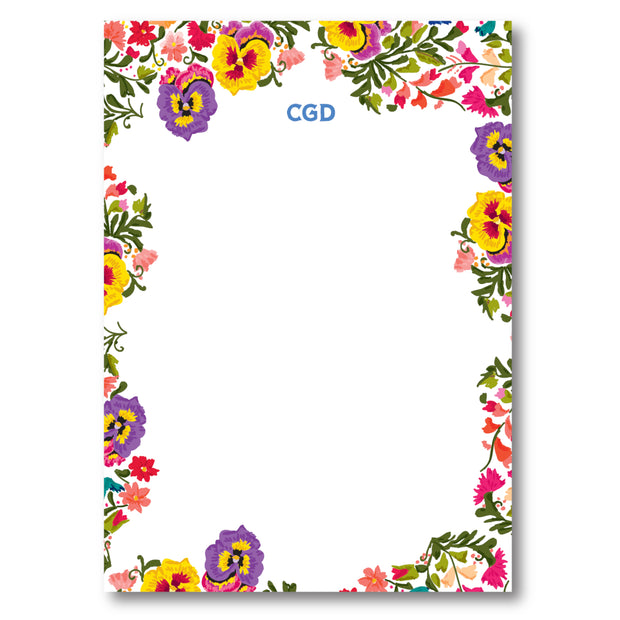 Colorful Flowers Notepad