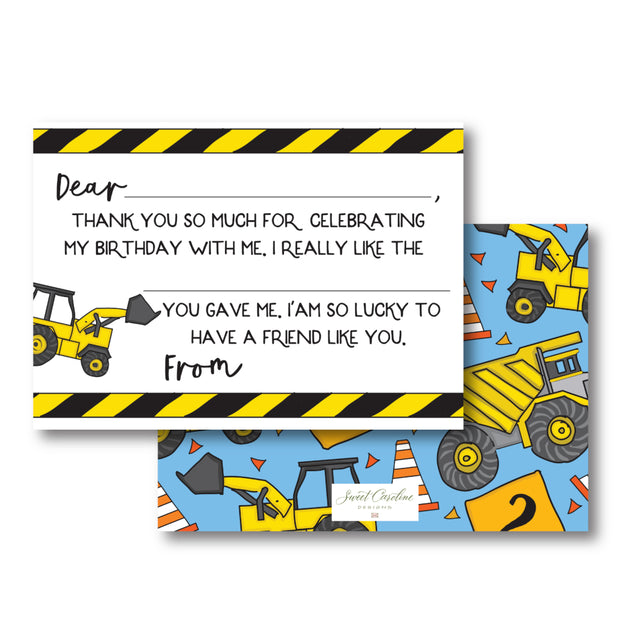 Construction Fill in the Blank Stationery
