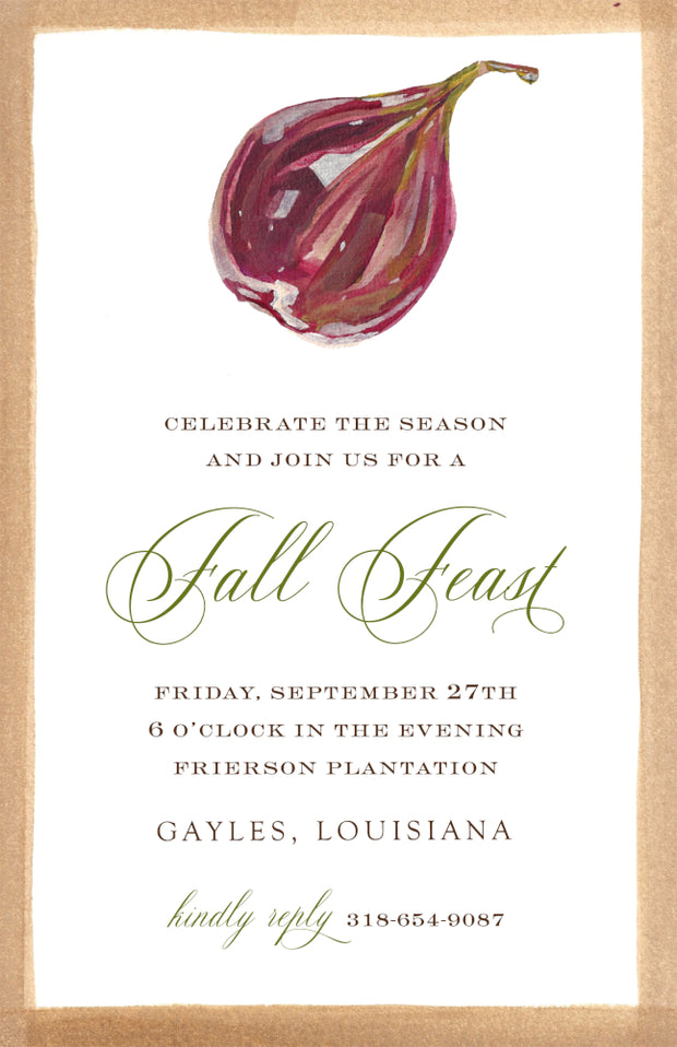 Falling Fig Border Invitation