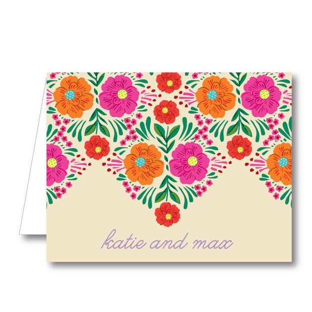 Fiesta Border Folded Notecard