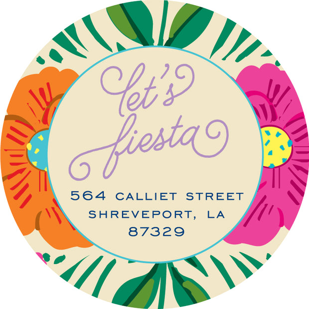 Fiesta Border Return Sticker
