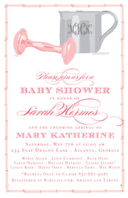 Pink Silver Cup Invitation