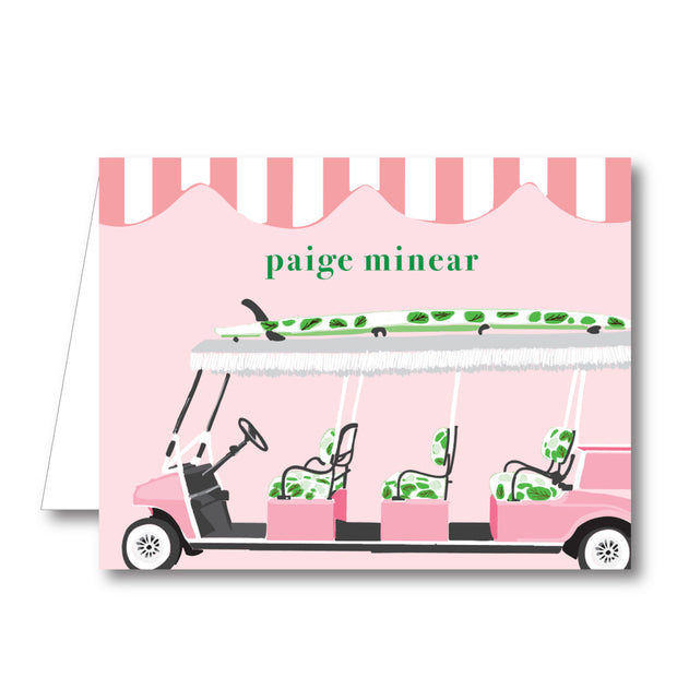 Palm Beach Golf Cart Folded Notecard