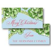 Green Chinoiserie - Horizontal Gift Tag