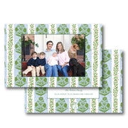 Holly Trellis Block - Landscape Christmas Card