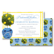 Lemon Topiary Invitation
