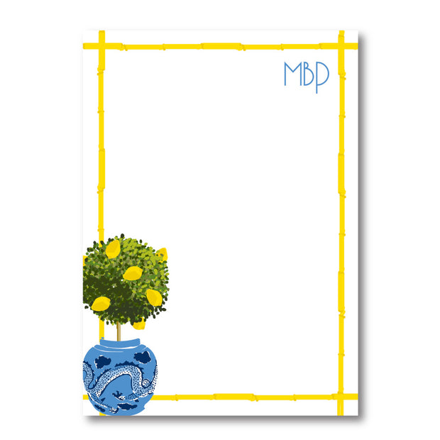 Lemon Topiary Notepad