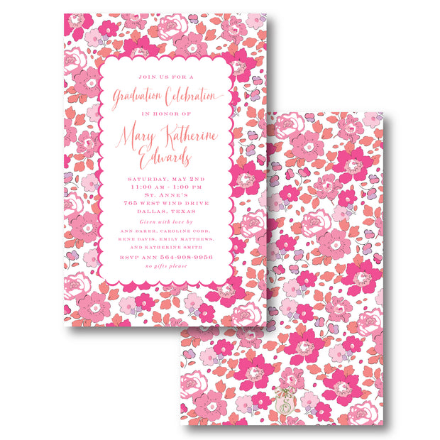 Liberty Hot Pink Invitation