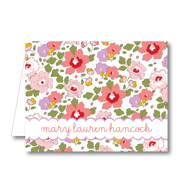 Liberty Pink Folded Notecard