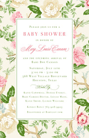 Pink Chintz Invitation