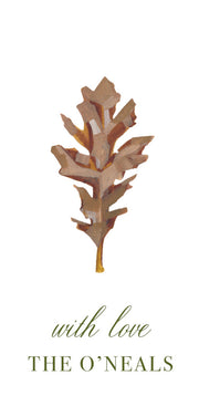 Oak Leaf Gift Tag