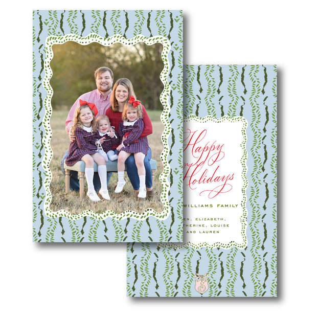 Oh Christmas Tree Pattern - Portrait Christmas Card