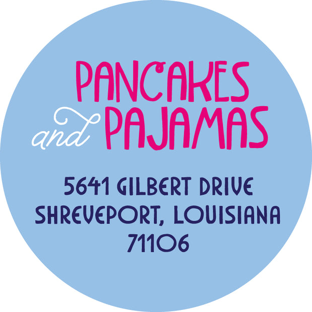 Pancakes & Pajamas Return Sticker