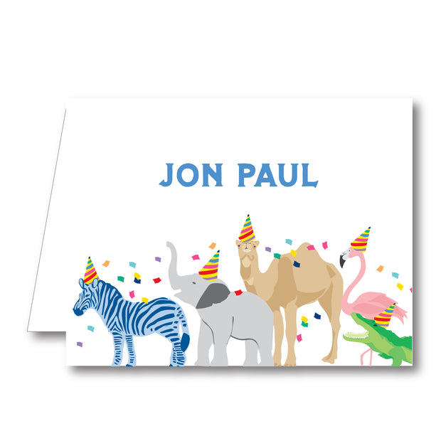 Party Animals Folded Notecard