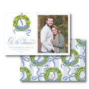 Pear Garland - Landscape Christmas Card