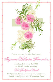 Pink Baptism Invitation