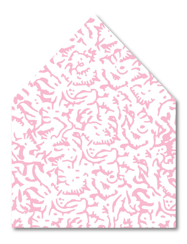 Pink Carnation Envelope Liner