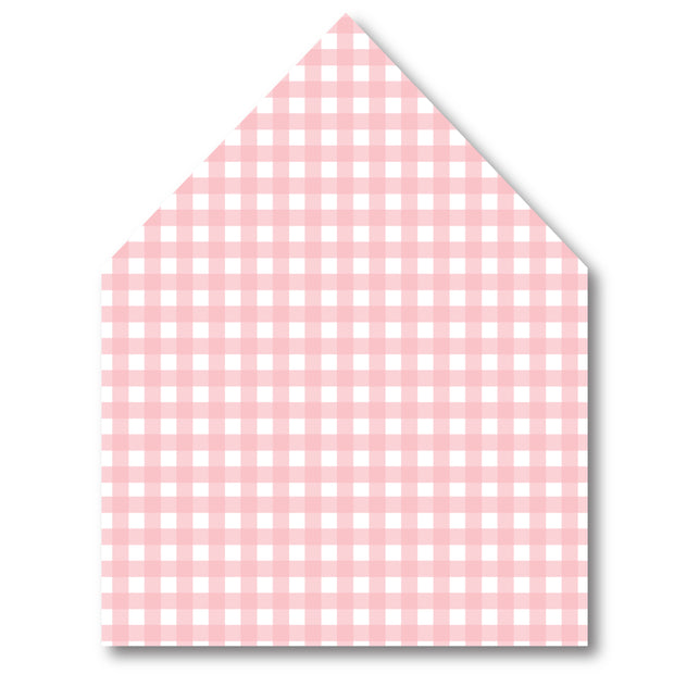 Pink Check Envelope Liner