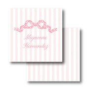 Pink Chintz Bow Calling Card