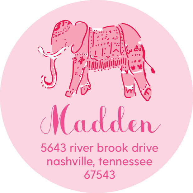 Pink Elephant Return Sticker