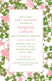Pink Geranium Invitation