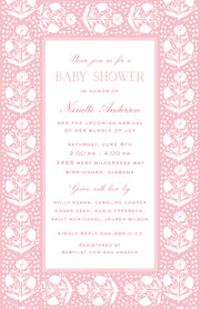 Pink Scallop Flower Invitation