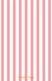 Pink Stripe Invitation