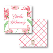 Pink Tulips Calling Card